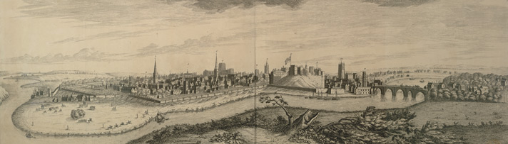 South West Prosect Of The City Of Chester, Buck, 1728